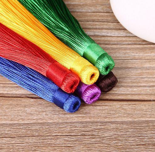Tassel Poliester Longo Cores Variadas 12cm - 02 peças - JAP16  - ArtStones