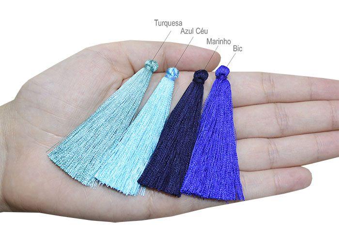 Tassel Rayon 6.5cm Cores Variadas - 2 Peças - JAP17  - ArtStones