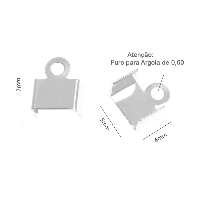 Terminal 4x5mm Folheado Pacote com 05 Pares  - FO274  - ArtStones