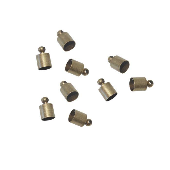 Terminal de Cordão Metal Ouro Velho Tamanhos Variados - 10 peças - AM024  - ArtStones