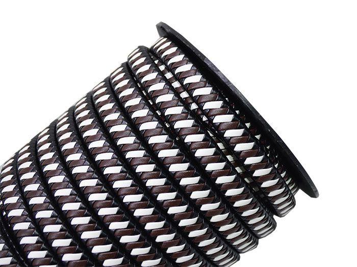 Couro Sintético Trançado 12X5mm Cores Variadas - PACOTE - MM068  - ArtStones