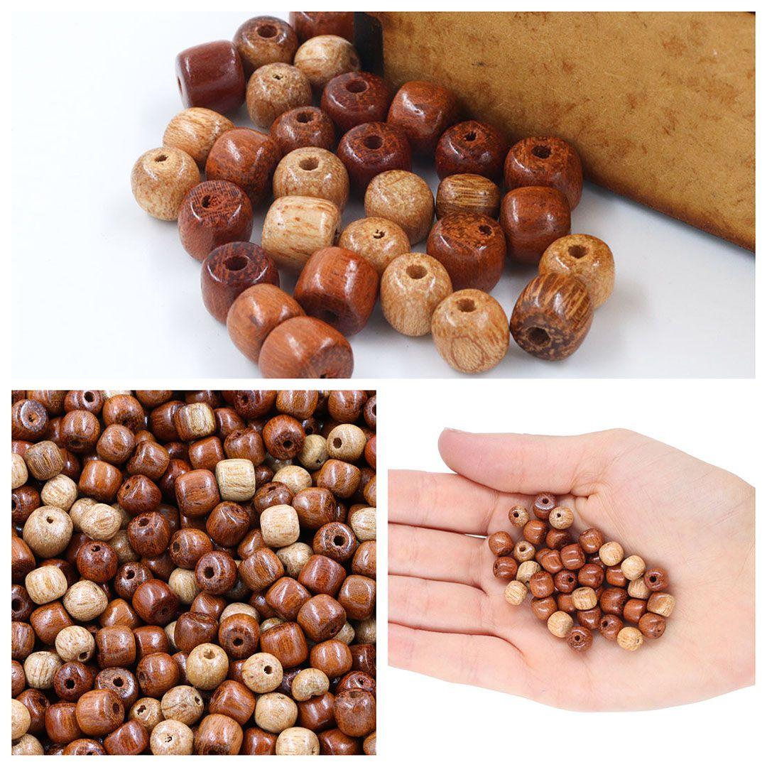 Toquinho de Madeira Natural Mix - 6/7MM - Pacote - CM051  - ArtStones