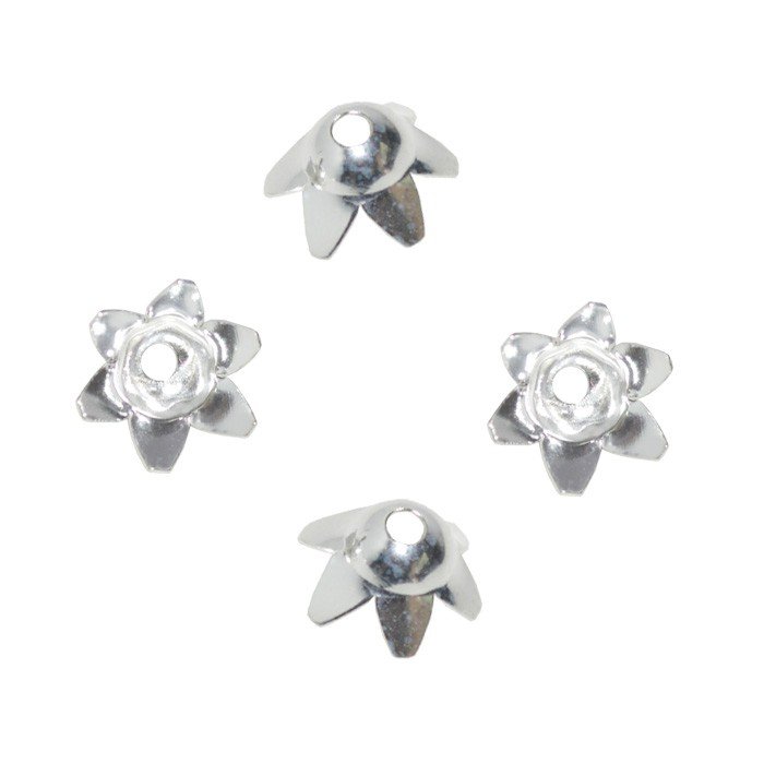 Tulipa em Prata 925 Tamanho 8x4mm -  2 Peças - PR057  - ArtStones