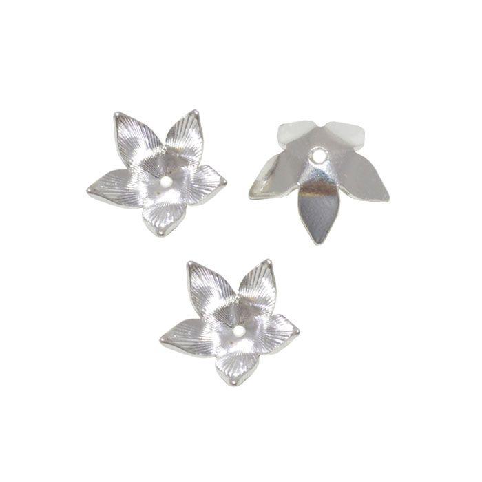 Tulipa em Prata 925 10x5mm - 1 Peça - TP_204  - ArtStones