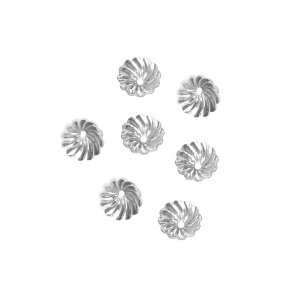 Tulipa Margarida 8mm Folheado - 02 Gramas - FO277  - ArtStones