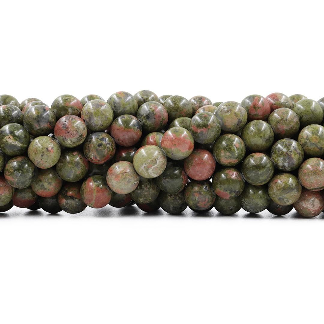Unakita Natural Fio com Esferas de 10mm - F520  - ArtStones