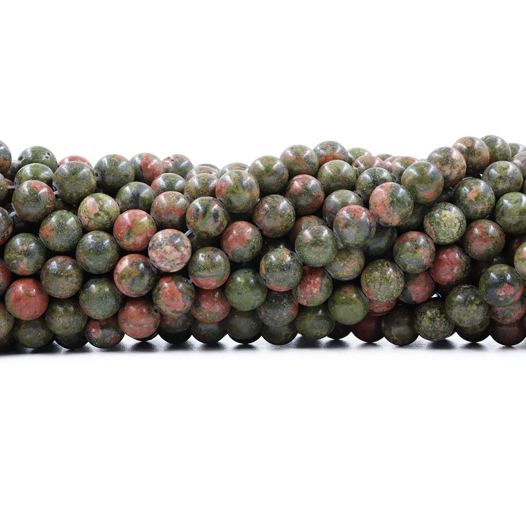 Unakita Natural Fio com Esferas de 8mm - F519  - ArtStones