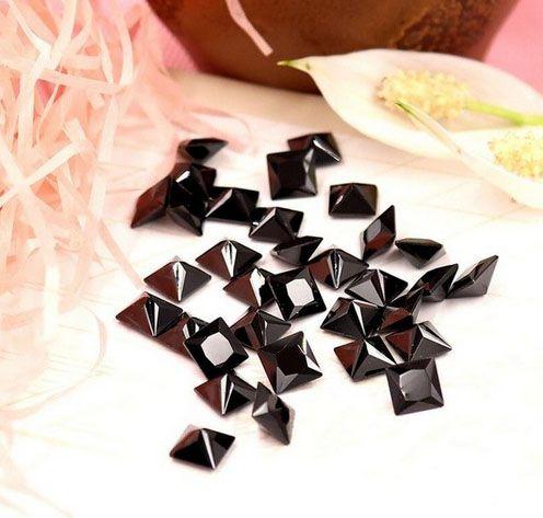 Zircônia Negra Quadrada Tamanhos Variados - Pacote - CL052  - ArtStones