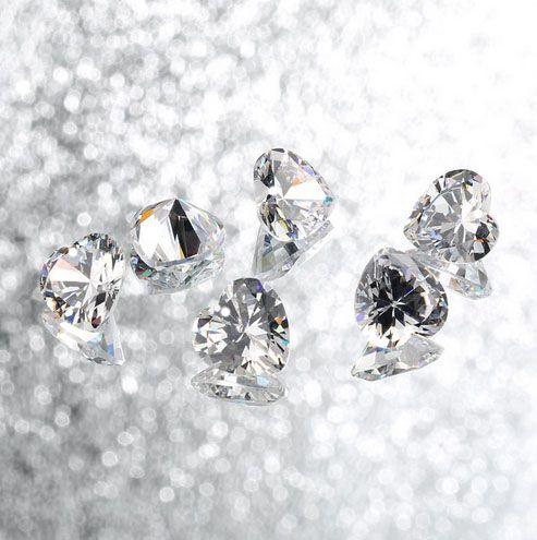 Coração de Zircônia com Furo Frontal - 10 peças - ZR_105  - ArtStones