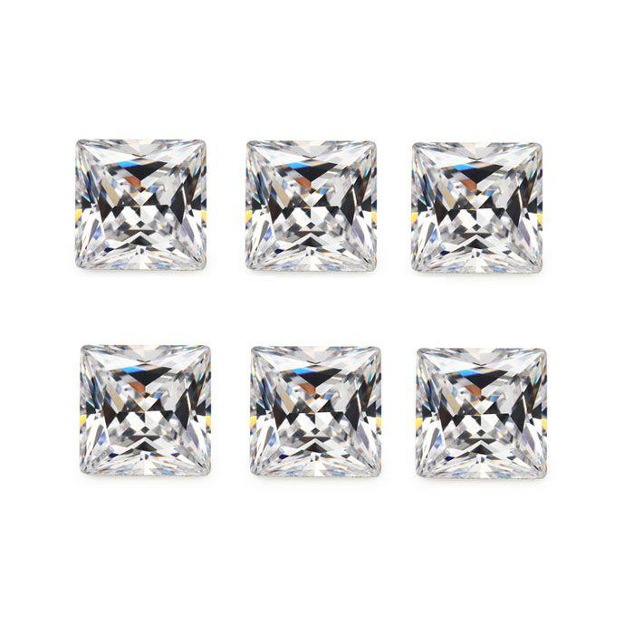Zircônia Transparente Quadrada Tamanhos Variados - Pacote - ZR_109  - ArtStones